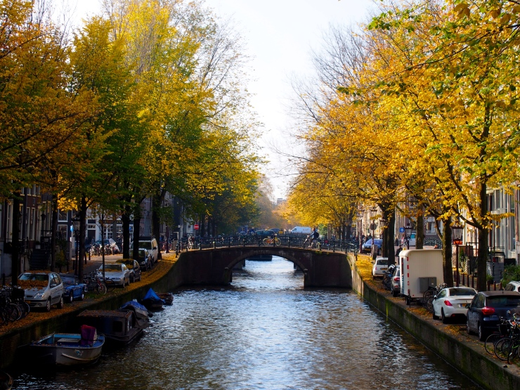 First glimpse of one of the classic canals.