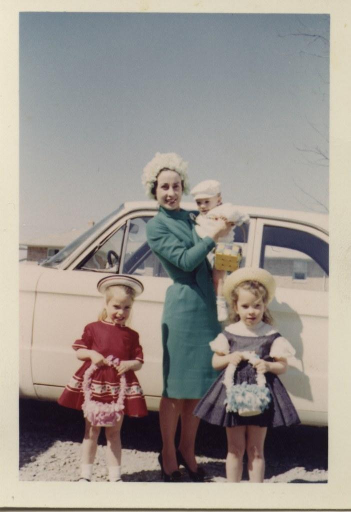 Easter 1963 Mom Jane Sally Dan