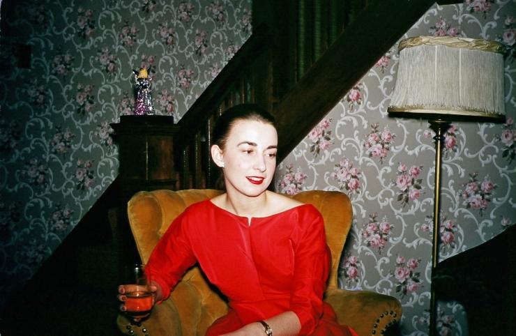 Martha in red dress